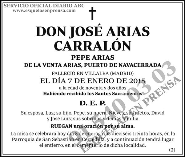 José Arias Carralón